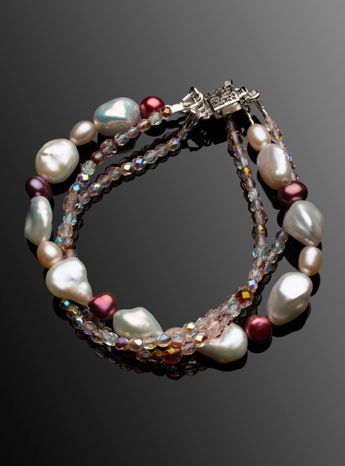 Triple strand Fresh Water Pearl bracelet