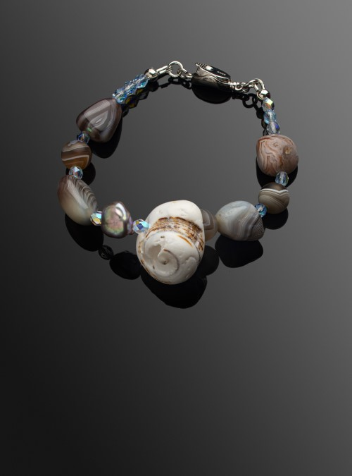 Agate shell bracelet