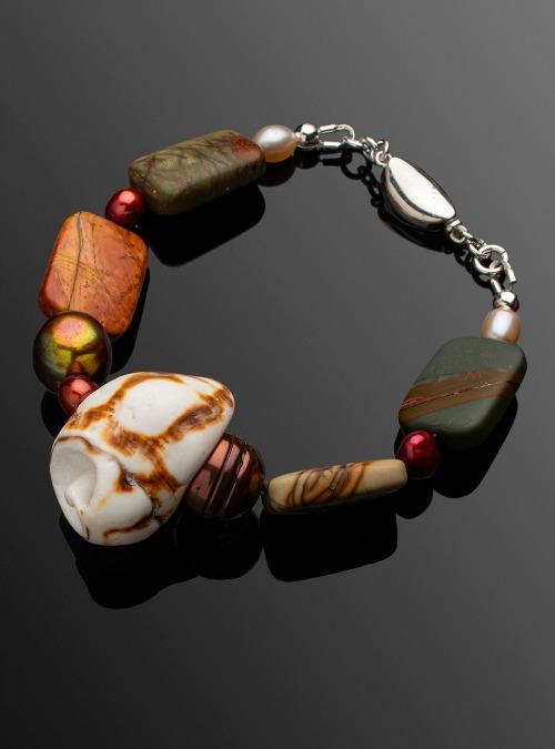 Picasso Jasper & Shell bracelet