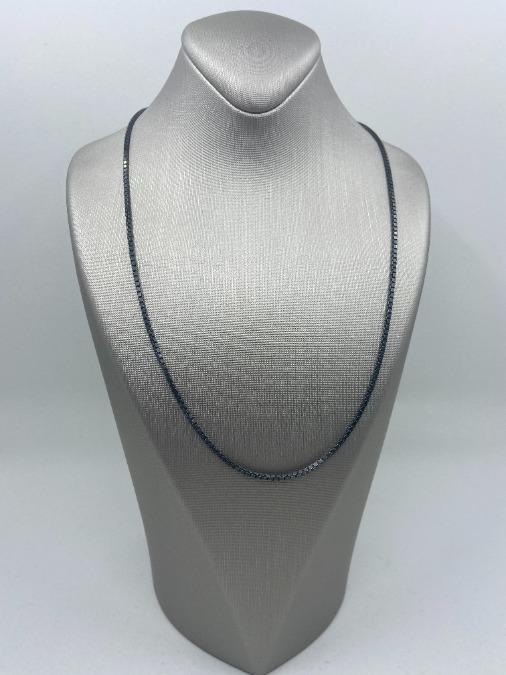 oxidized sterling silver box chain