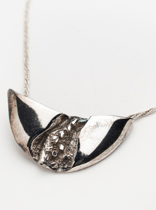 """Astrid Holthe """"AHA"""" vintage sterling silver pendant & chain"""