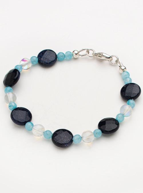 """Sunny skies/Sparkling night"" bracelet"