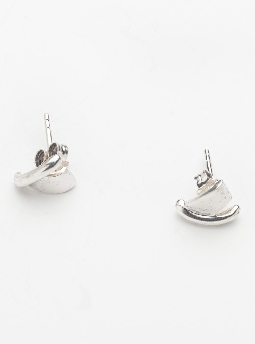 Jens Aagaard silver modernist stud earrings