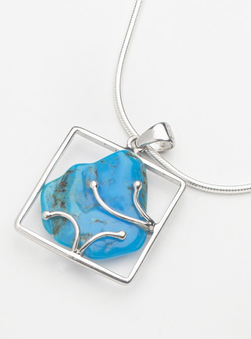 Arizona Turquoise and sterling silver pendant