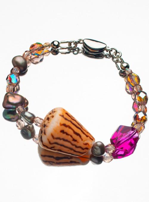 Orange shell bracelet