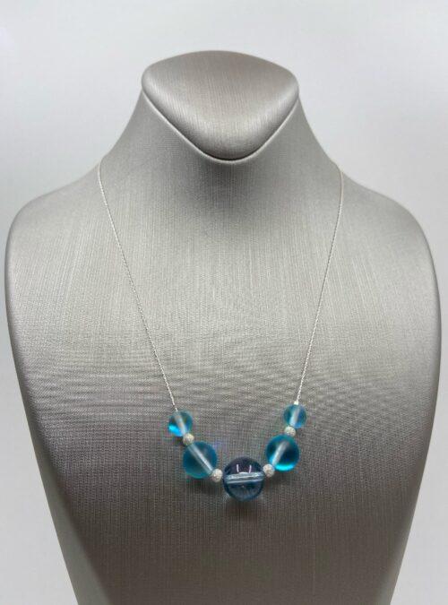 Turquoise Quartz & Stardust Sparkler sterling chain