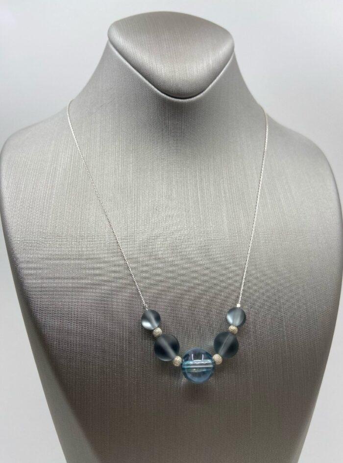 Silver Aura Quartz & Stardust Sparkler sterling chain
