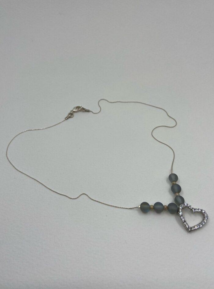 Aura Quartz & Vintage Heart Stardust Sparkler sterling chain