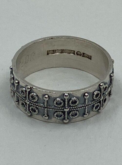 Vintage (1969) Scandinavian Sterling Silver unisex ring