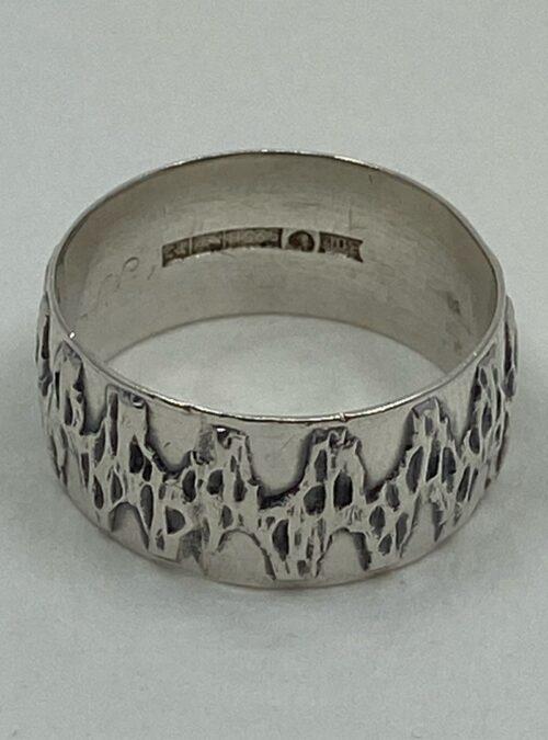 Vintage (1972) Bengt O. Lilja Sterling Silver modernist unisex ring