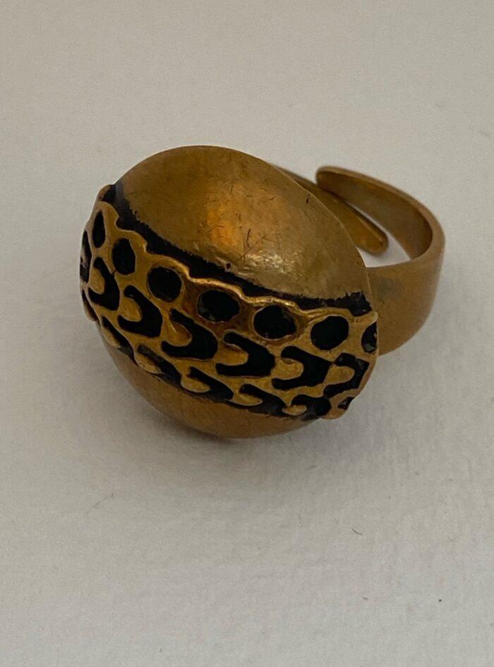 Vintage adjustable Pentti Sarpaneva bronze ring
