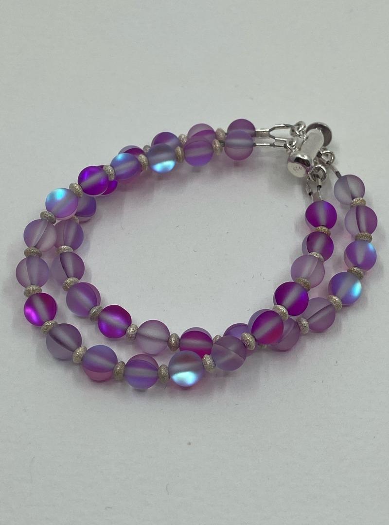 "Pink ""Stardust Sparkler"" Double Strand bracelet"
